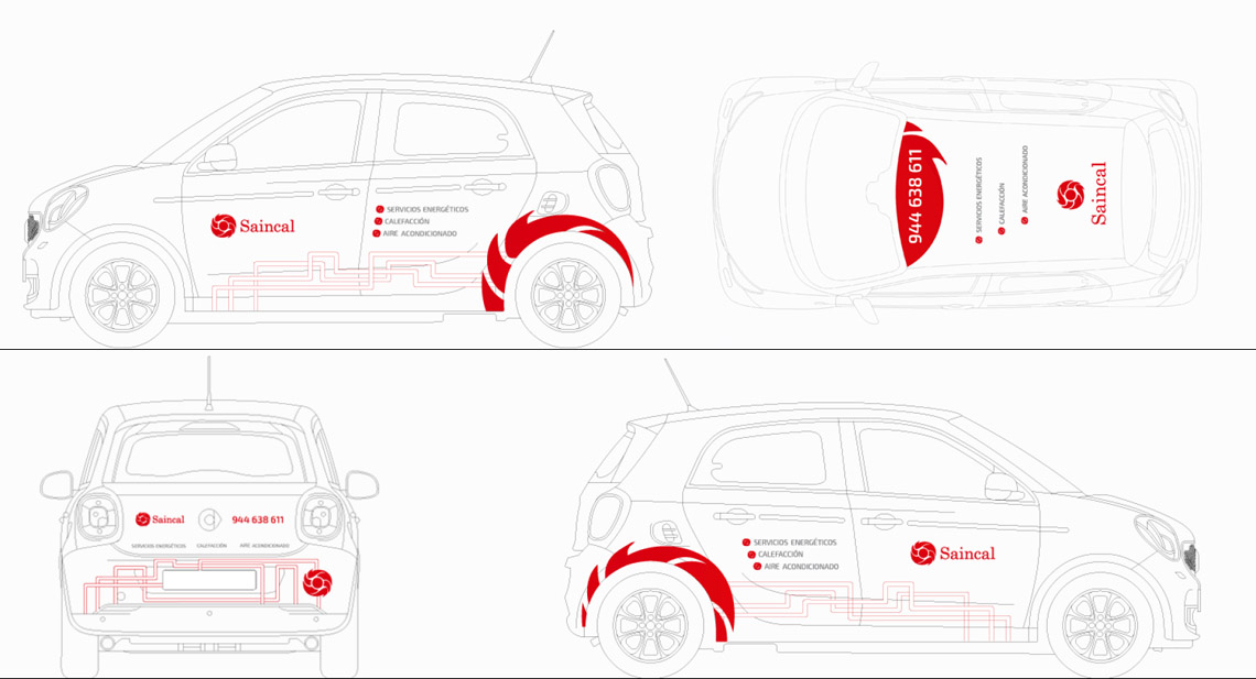 serigrafía vehículo. Planos