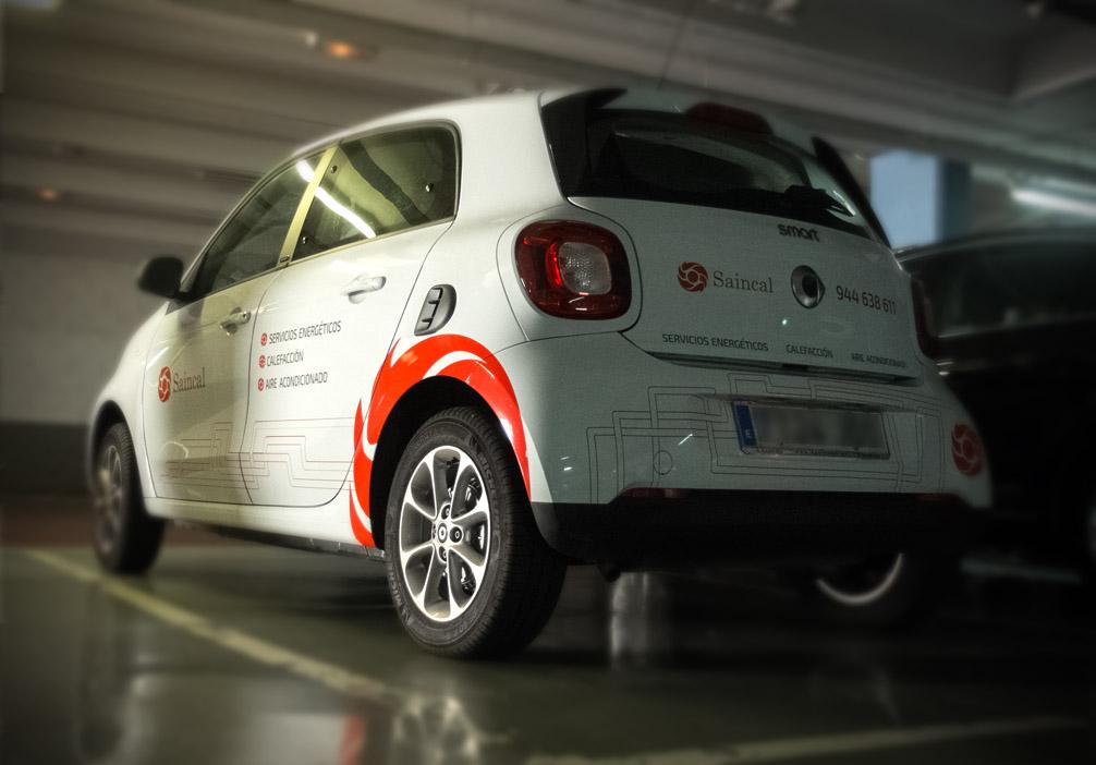 Diseño de serigrafía para coche Smart